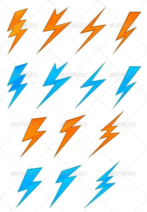 GraphicRiver Lightning Symbols 3656232