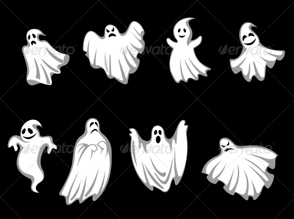GraphicRiver Mystery Halloween Ghosts 3656243