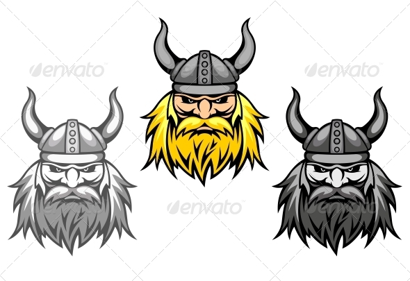 GraphicRiver Aggressive Viking Warriors 3656246