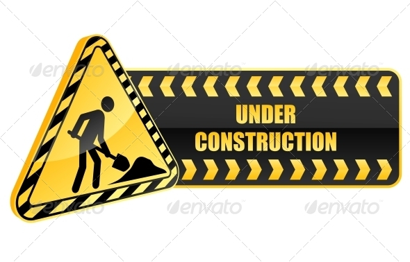 GraphicRiver Under Construction Icon and Warning Sign 3656247