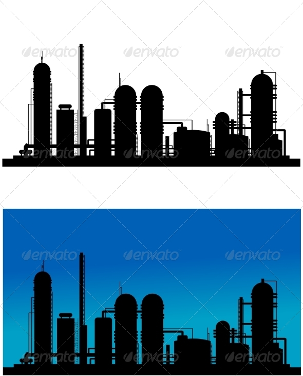 GraphicRiver Chemical or Refinery Plant 3656257