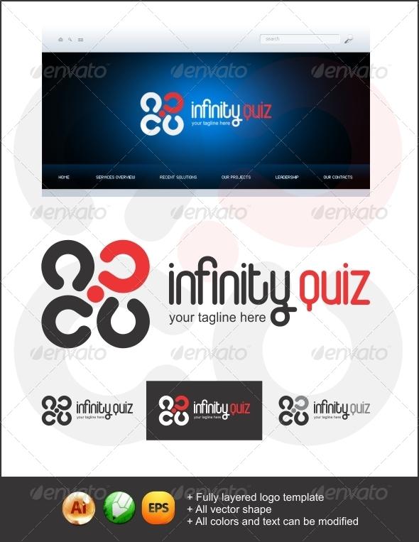 Infinity Quiz Logo - Symbols Logo Templates