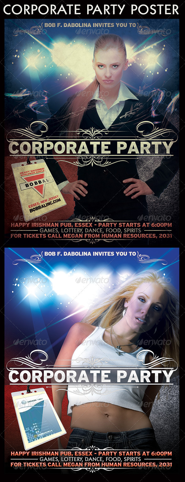 GraphicRiver Corporate party Poster 3656265