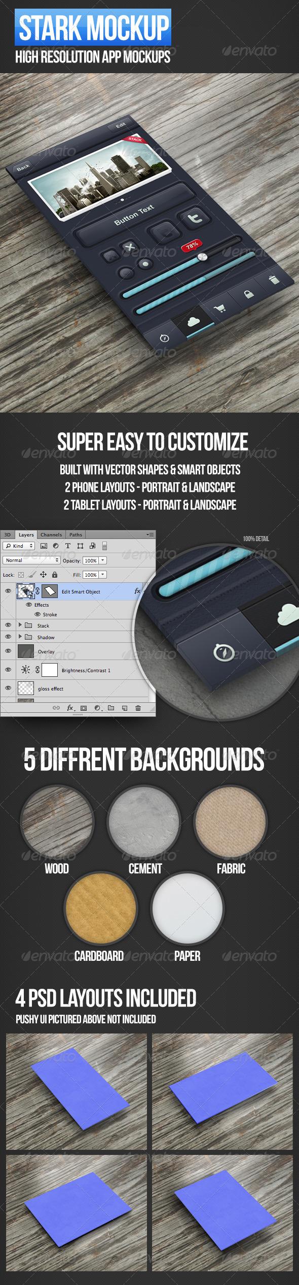 GraphicRiver Stark App Mockup 3656350