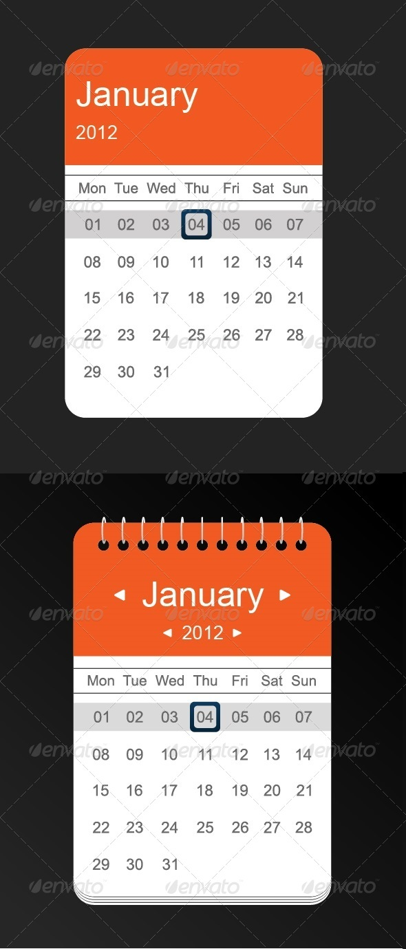 GraphicRiver Calendar Vector 3606123
