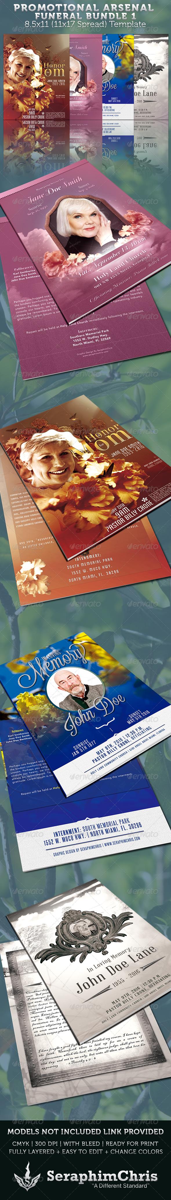 GraphicRiver Promotional Arsenal Funeral Program Bundle 1 3656457