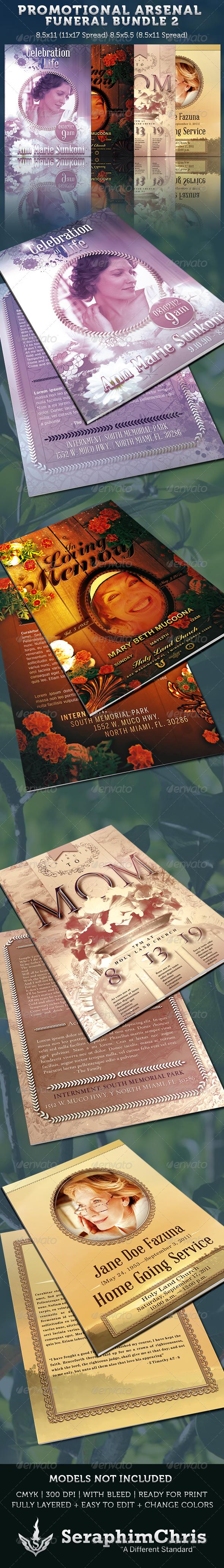 Promotional Arsenal Funeral Program Bundle 2 - Informational Brochures