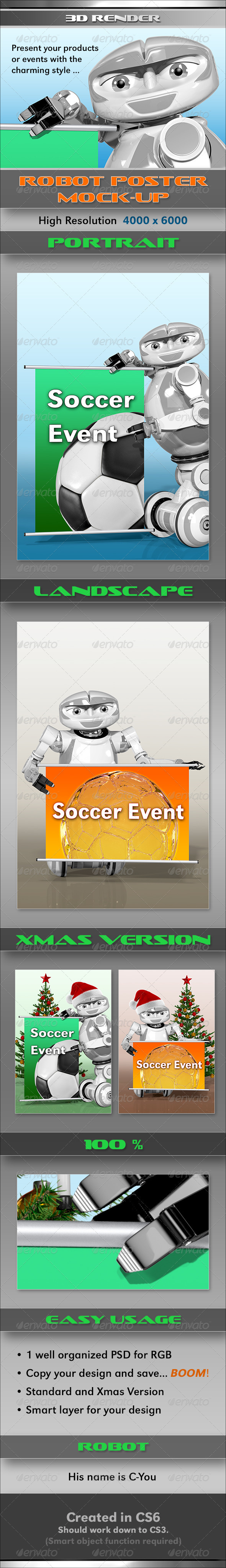GraphicRiver Robot Poster MockUp 3656674