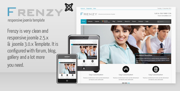 ThemeForest Frenzy Clean Responsive Joomla Business Template 3627341