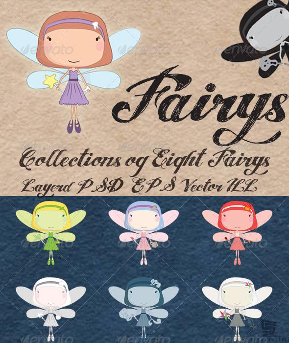 Fairys - Characters Vectors
