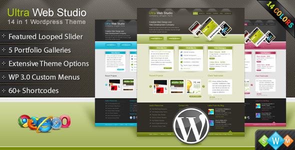 ThemeForest Ultra Web Studio Blog & Portfolio Wordpress Theme 121611