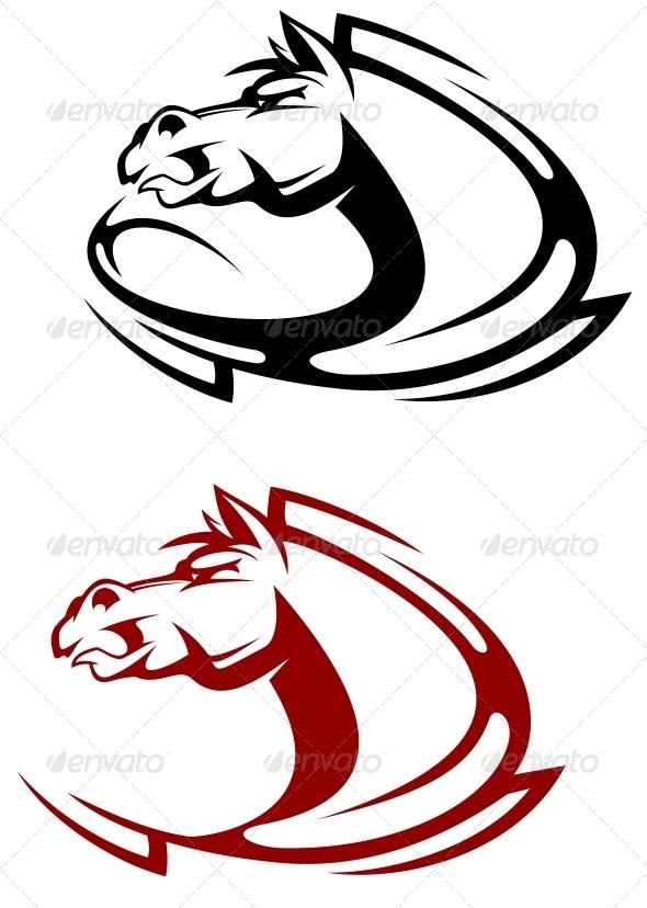 GraphicRiver Horse Mascot 3657134