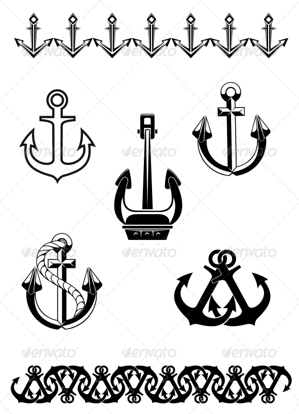 GraphicRiver Set of Anchor Symbols 3657135