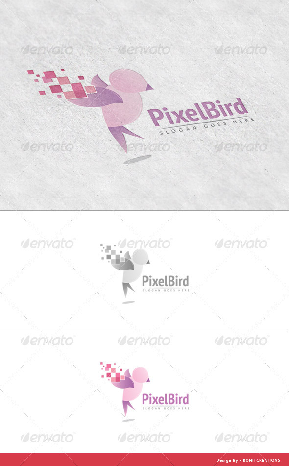 GraphicRiver PixelBird Logo Template for Design Studios 3657178