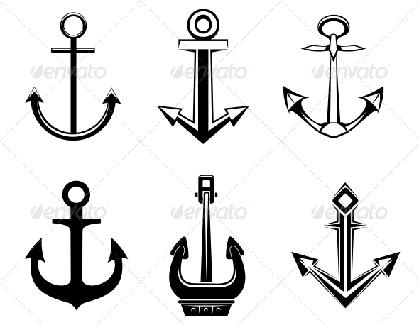 GraphicRiver Set of Anchor Symbols 3657179