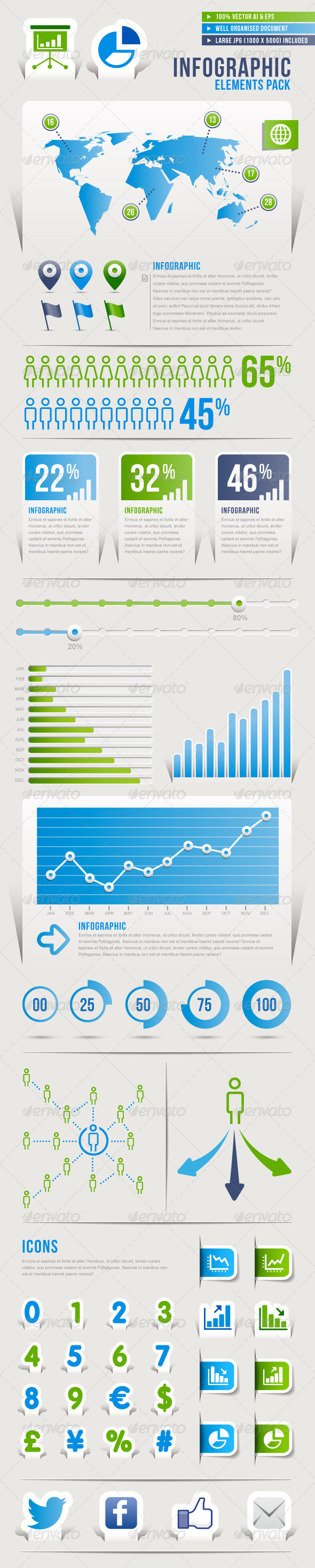 GraphicRiver Infographic Vector Pack 3623329