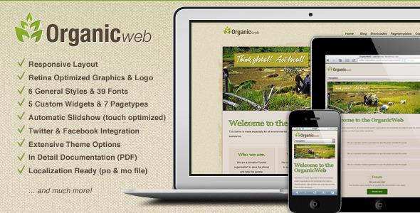 ThemeForest Organic Web Environmental WordPress Theme 2507773