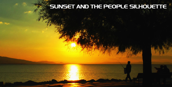 Sunset and the People Silhouette