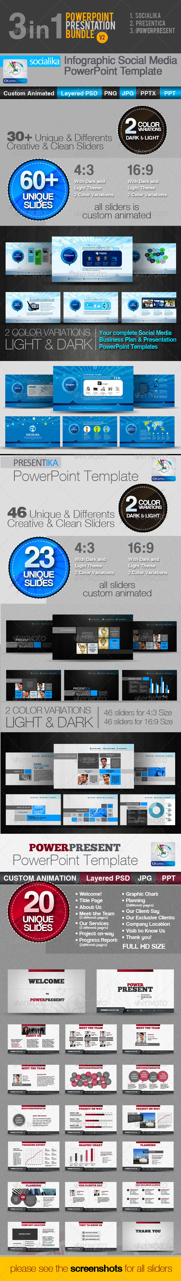 GraphicRiver 3in1 PowerPoint Templates Bundle v2 3658020