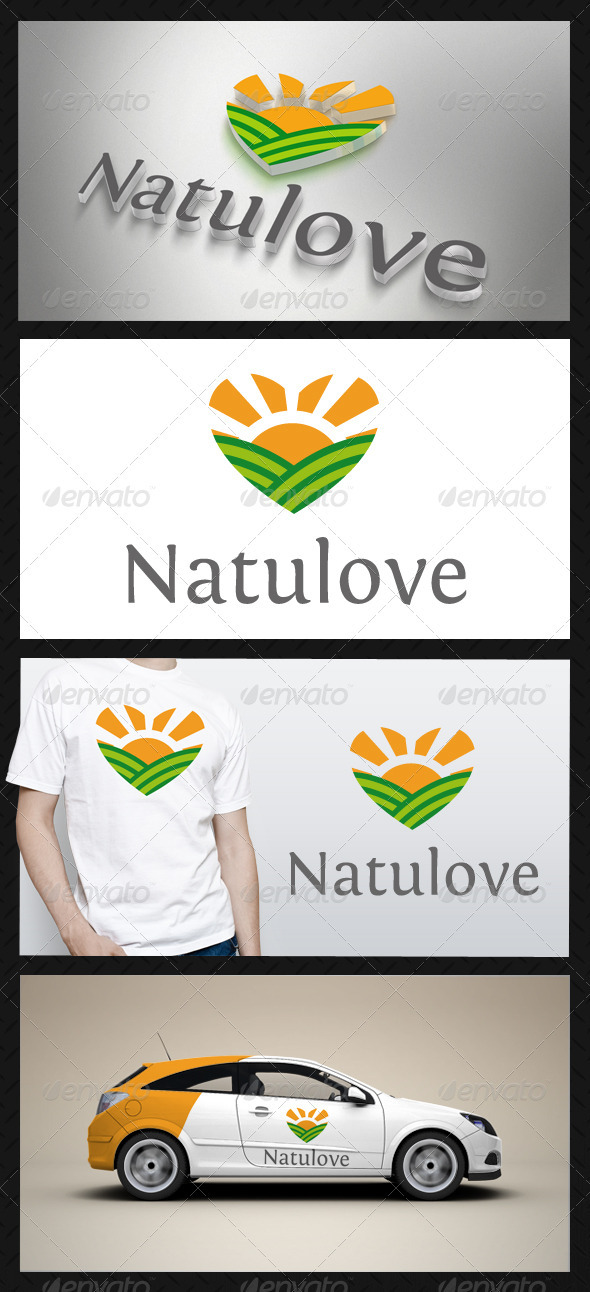 GraphicRiver Nature Love Logo 3658402