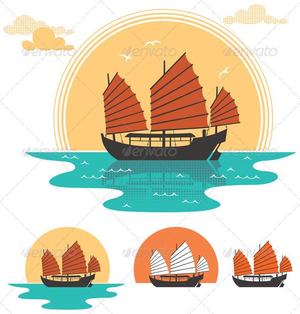 GraphicRiver Junk Boat 3658529