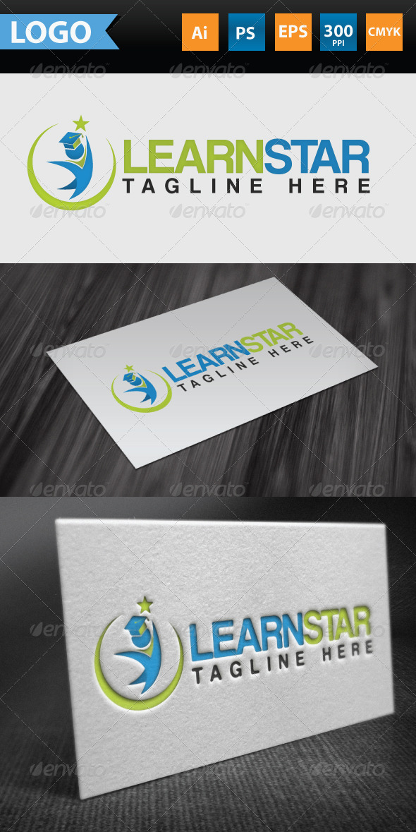 GraphicRiver Learning Star Logo 3659367