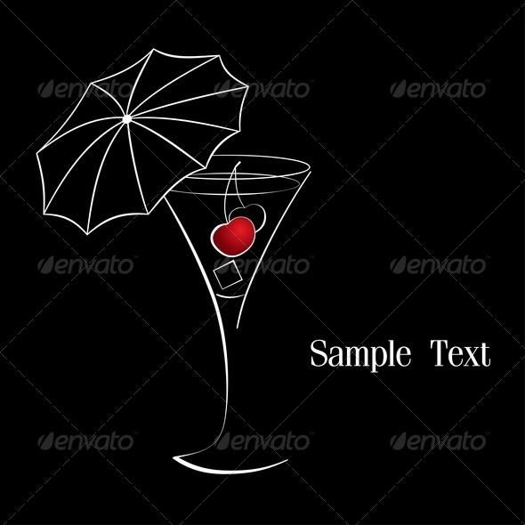 GraphicRiver Cocktail With Cherry 3659719