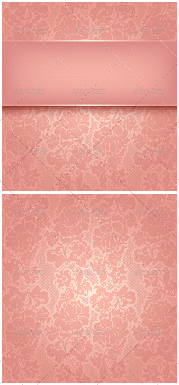 GraphicRiver Ornamental Pink Greeting Card 3659781