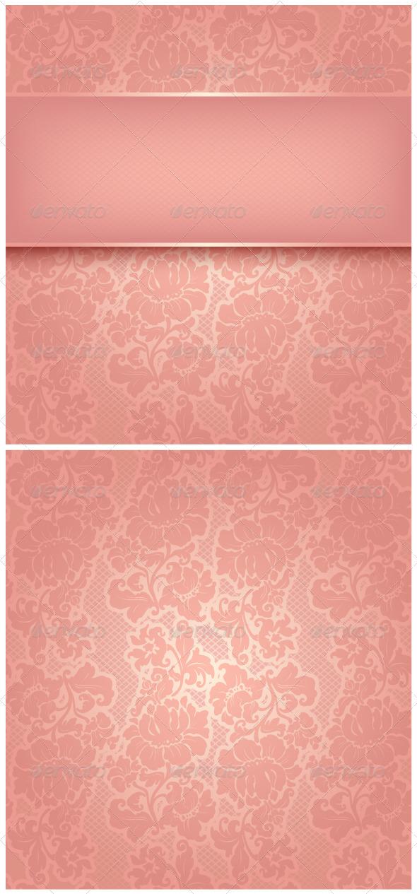 Ornamental Pink Greeting Card