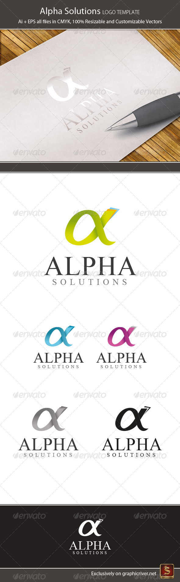 Alpha Logo Template - Letters Logo Templates