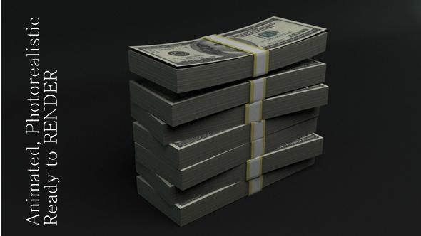 3DOcean Stack of Dollars 3660308