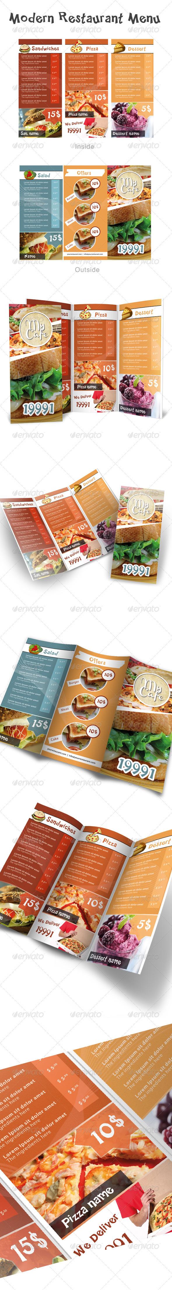 GraphicRiver Modern Restaurant Menu 393560