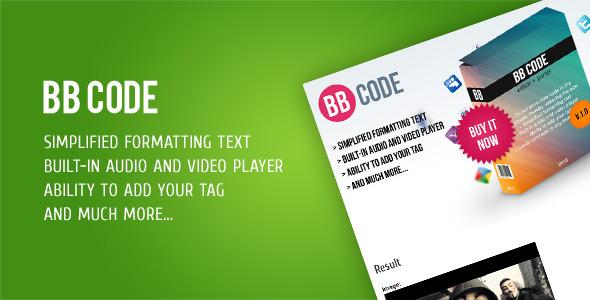 CodeCanyon BB Code Editor & Parser 2588808