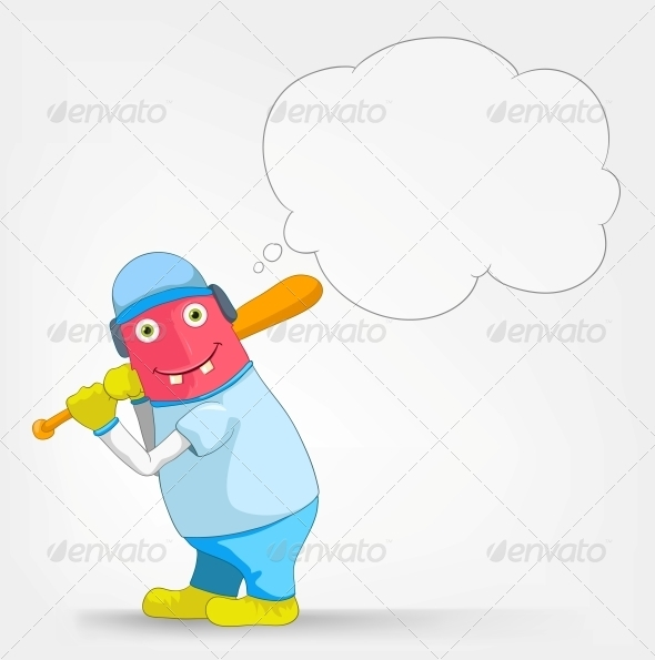GraphicRiver Funny Monster Baseball 3660614