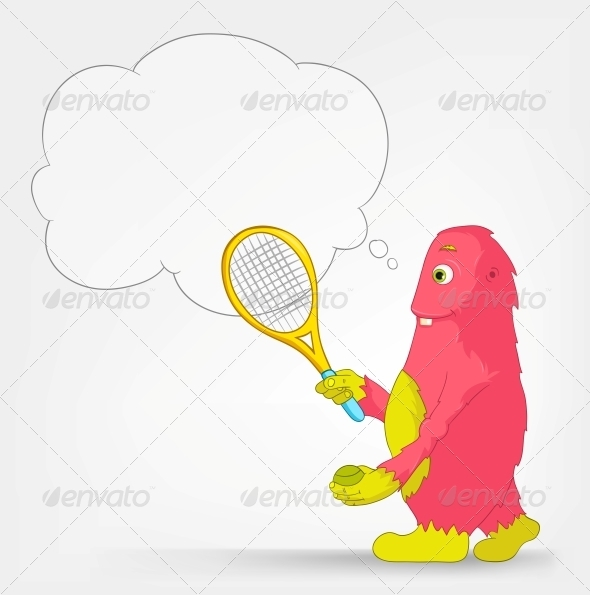GraphicRiver Funny Monster Tennis 3660649