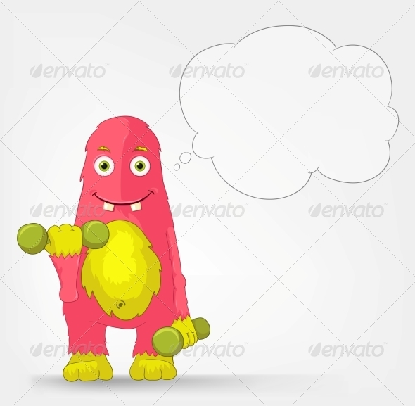GraphicRiver Funny Monster Gym 3660700