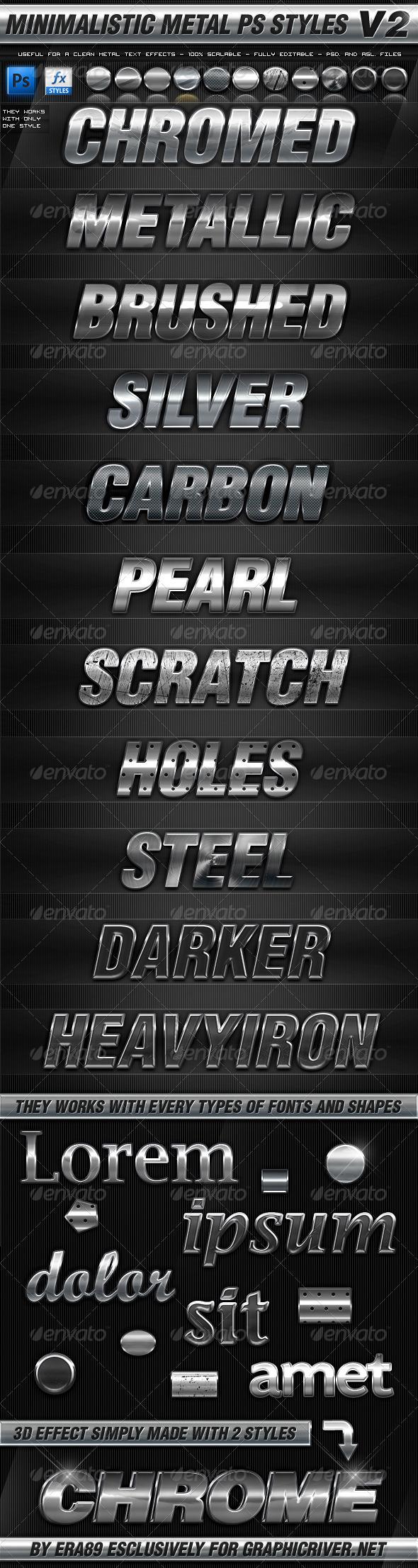 GraphicRiver Minimalistic Metal Styles V2 3660727