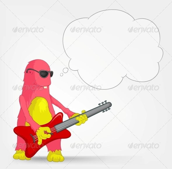 GraphicRiver Funny Monster Rock Star 3660904