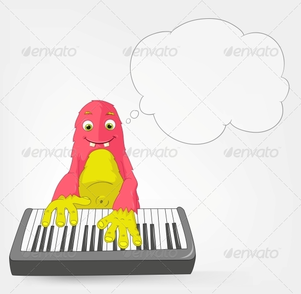 GraphicRiver Funny Monster Pianist 3661003