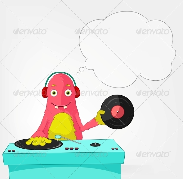 GraphicRiver Funny Monster DJ 3661084