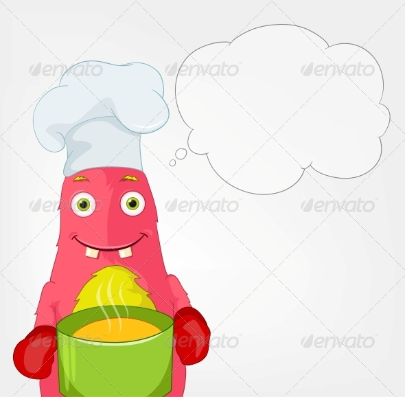 GraphicRiver Funny Monster Chef 3661093