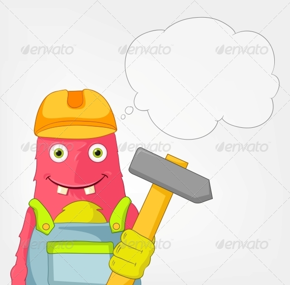 GraphicRiver Funny Monster Contractor 3661103