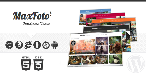 ThemeForest MaxFoto Wordpress Theme Clean Gallery Blog 3395211