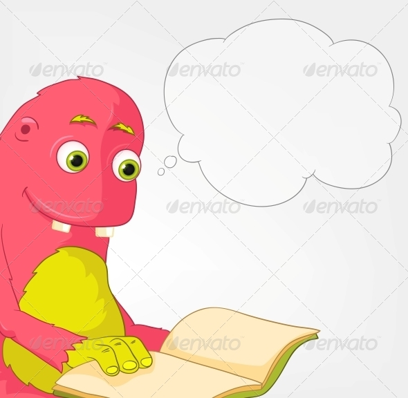 GraphicRiver Funny Monster Reading 3661165