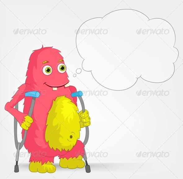 GraphicRiver Funny Monster Disabled 3661184