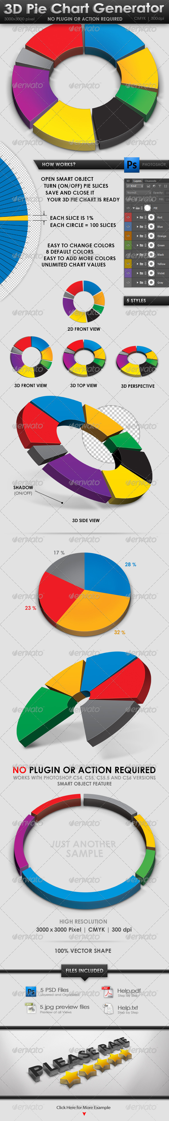 GraphicRiver 3D Pie Chart Generator 3630501