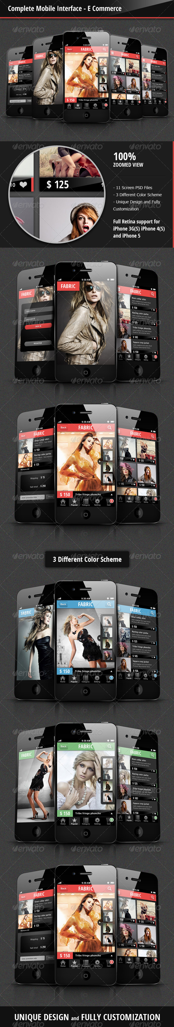 GraphicRiver Complete Mobile Interface E Commerce 3601693