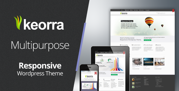 ThemeForest Keorra Multipurpose Responsive Wordpress Theme 3475168