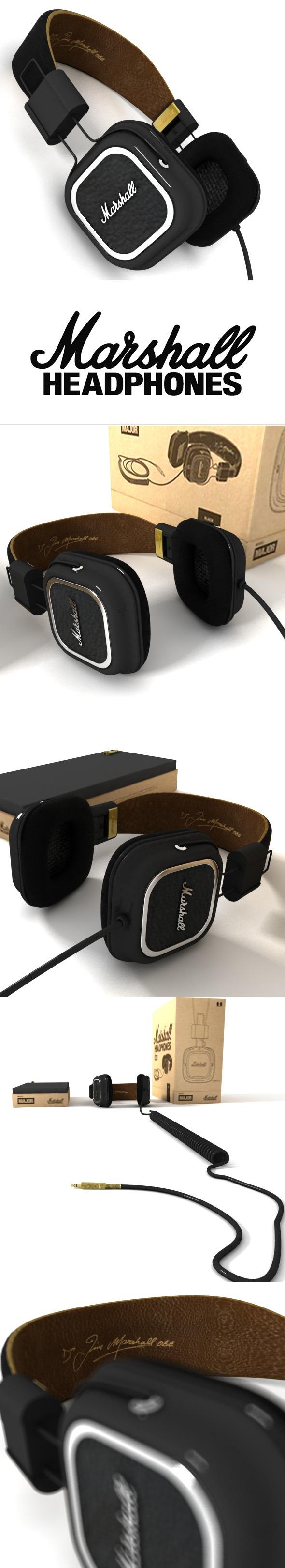 3DOcean Marshall Headphones Major 3663874