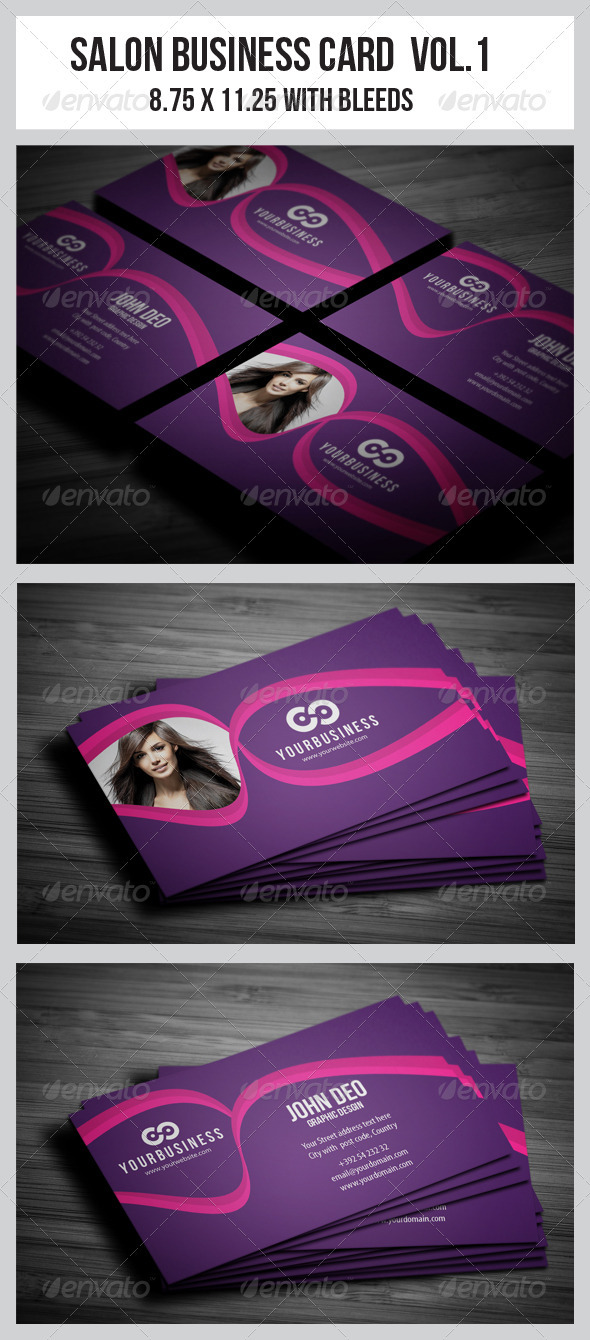 Salon Business Card Vol.1 - Industry Specific Business Cards